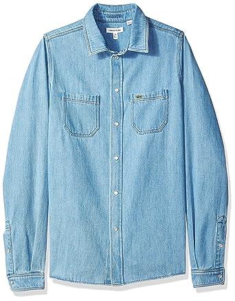 1c6d28e97d Amazon.com: Lacoste Boy Denim Shirt: Clothing