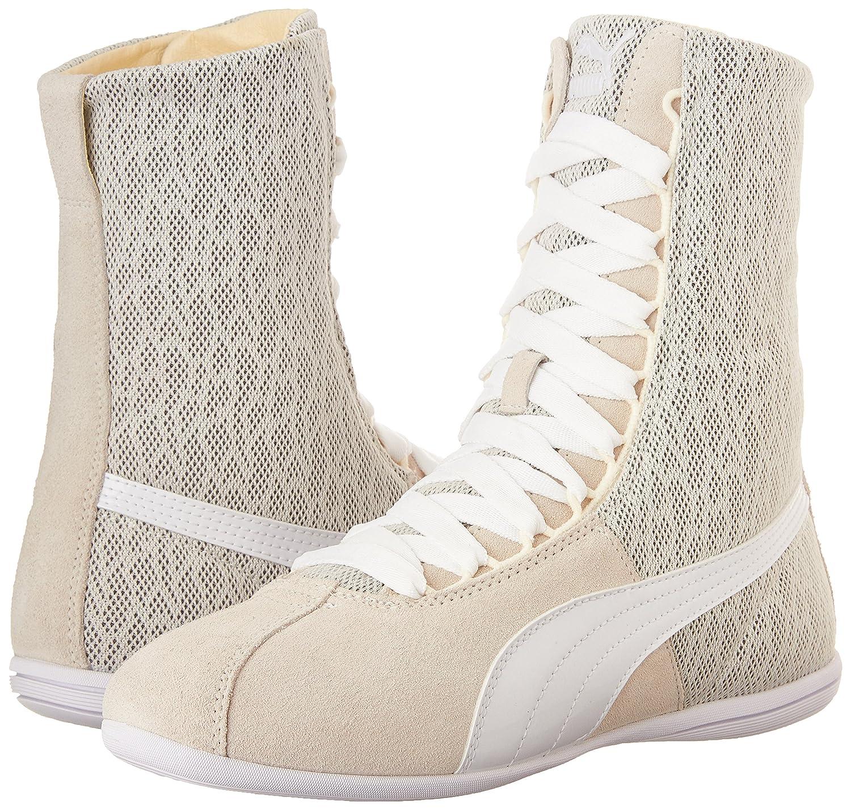 acf978574646c Puma Women's Eskiva Hi Textured Whisper White Sneaker 8. 5 B (M ...