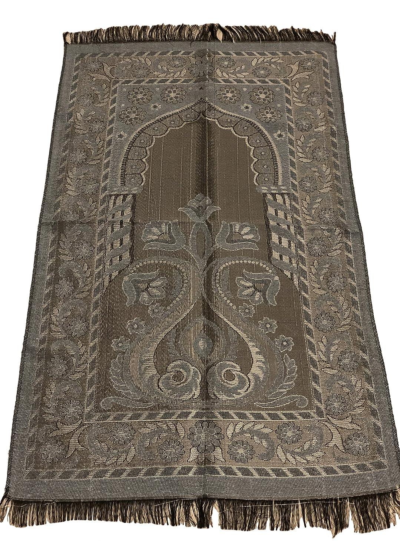 Islamic Prayer Rug Mihrab Tulib Design Excellent Quality Thin Janamaz Sajjadah Muslim Namaz Seccade Turkish Prayer Rug (Ocean Blue) Sparkle Trade
