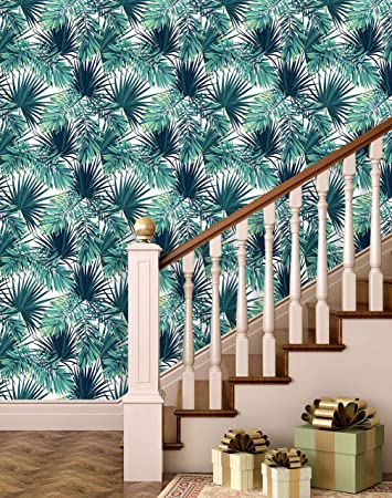 Buy Printelligent Palm Leaf Wallpaper Peel And Stick Wallpaper Self Adhesive Home Decor Wallpaper 45 Sqft Online At Low Prices In India Amazon In