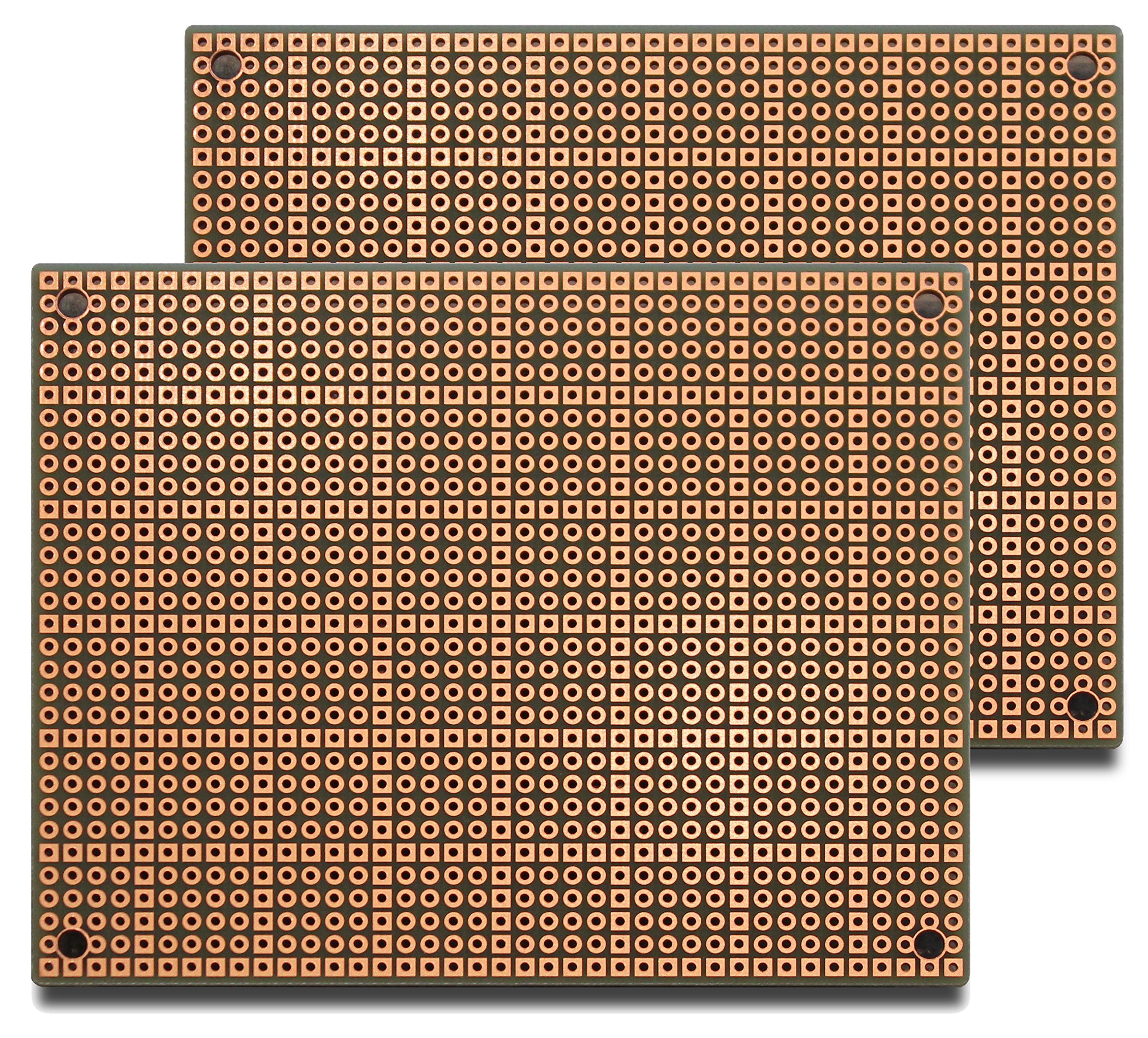 PAD2 (Two-Pack) PadBoard-2, Pad per Hole, 2 Sided PCB, Plated Holes, Size 2 = 100 x 80mm (3.94 x 3.15in)