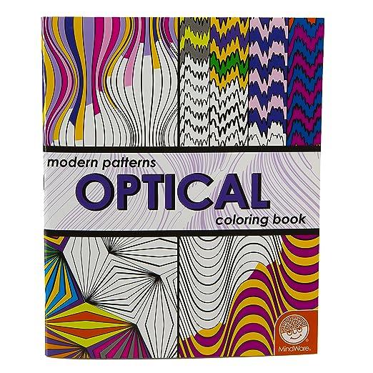 modern patterns optical coloring book mindware inc mindware holdings adam turner 9781933054254 amazoncom toys games - Modern Patterns Coloring Book