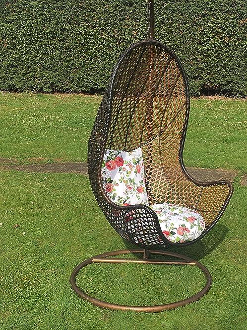 Patio Hanging Chair Garden Rattan Swing Seat Comfortable Cushion Relax Egg  Chair