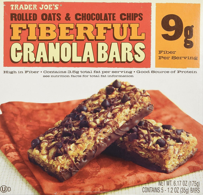 2 Boxes Trader Joe's Fiberful Granola Bars Rolled Oats & Chocolate ...