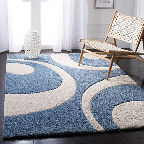Safavieh Florida Shag Collection SG474-6011 Abstract Textured 1.18-inch Thick Area Rug