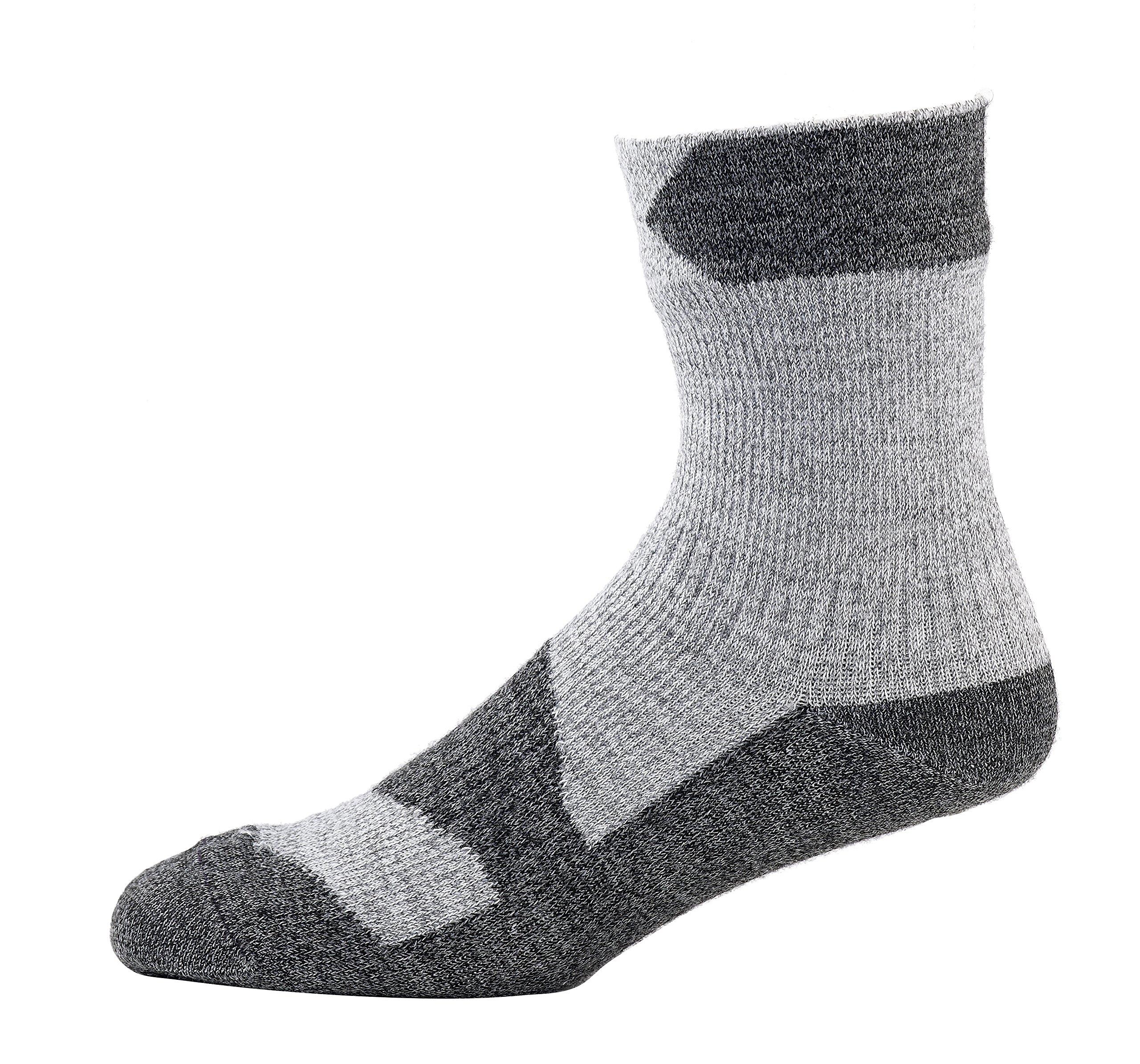 SealSkinz Walking Thin Ankle Socks, Medium - Grey Marl/Dark Grey. With a Helicase brand sock ring