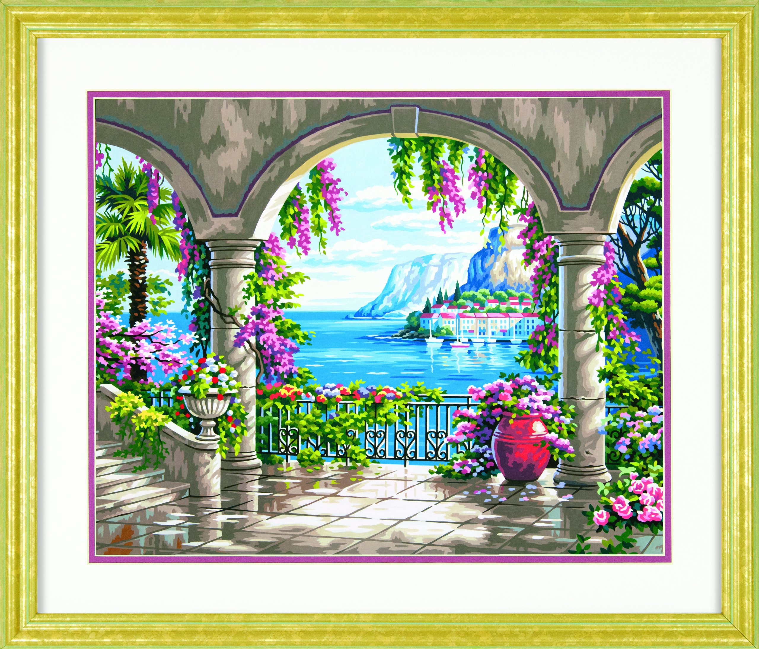 Dimensions Crafts Paintworks Paint by Number Kit, Floral Patio