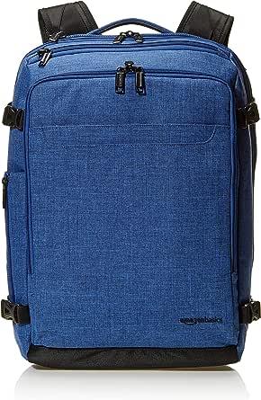 AmazonBasics Slim Carry On Backpack Weekender, Blue