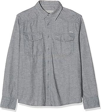 Brandit Shirt in Tweedoptik Camisa, Gris (Grey-offwhite 156), L para Hombre: Amazon.es: Ropa y accesorios