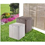 Charming Amazing Weatherproof Outdoor Garden Storage Box   Brown Smallu2026