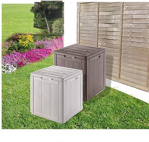 Amazing Weatherproof Outdoor Garden Storage Box   Grey Smallu2026