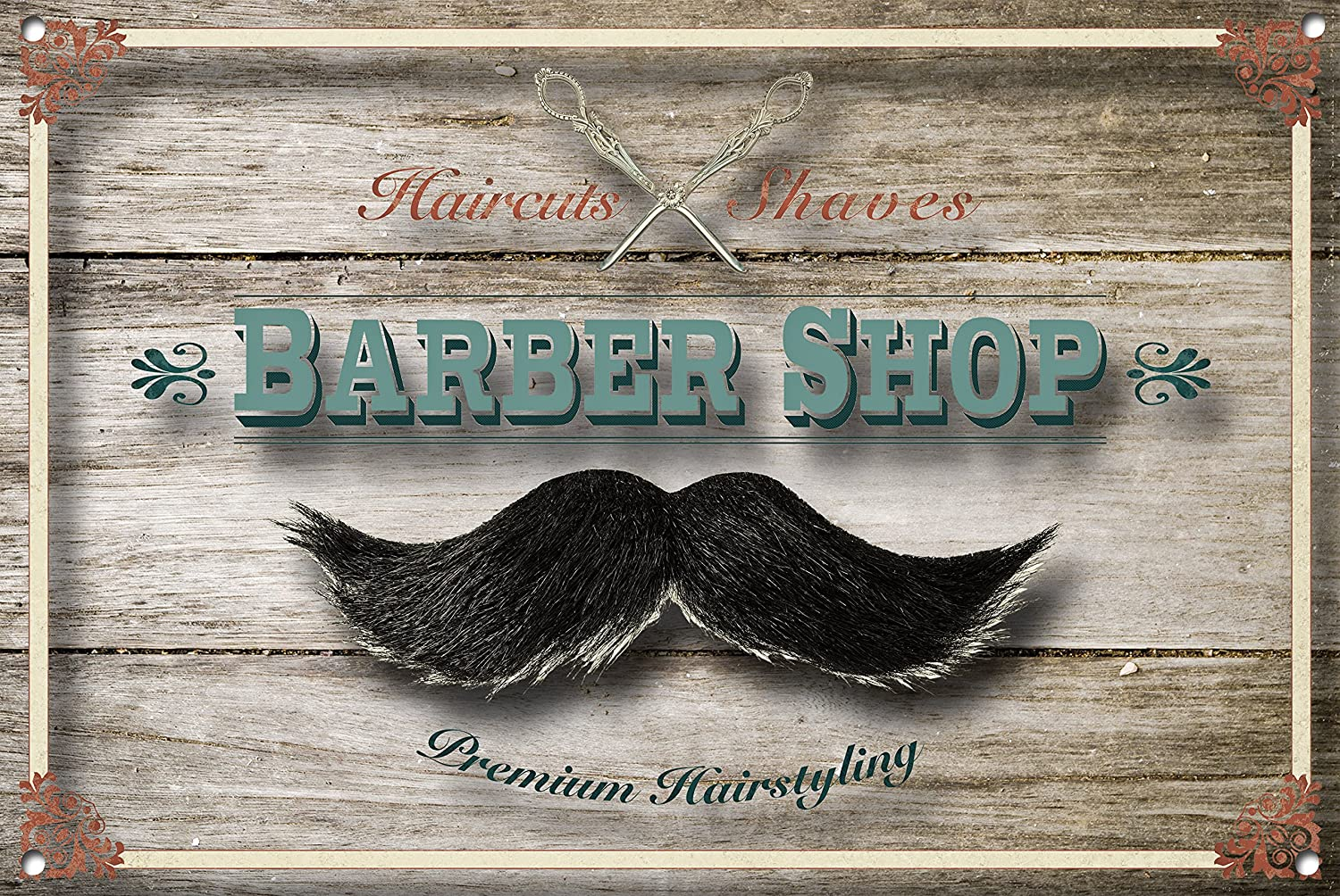 Cartel de Barber Shop, signo de metal, letrero de Barbershop ...