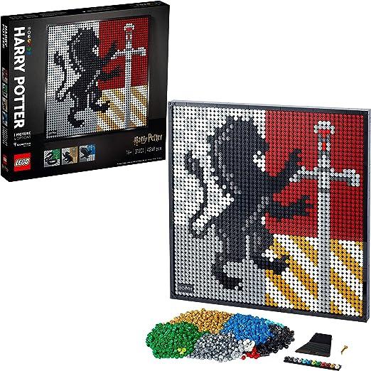 LEGO31201ArtHarryPotter:EscudosdeHogwarts, SetdeConstrucciónManualidadesparaAdultos,DecoracióndeParedPóster