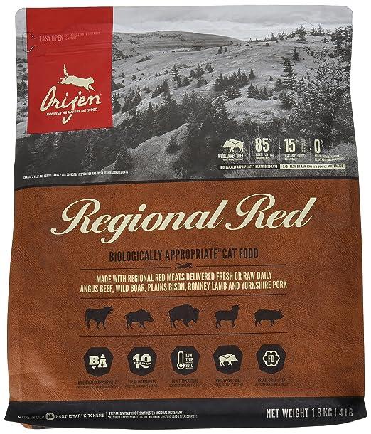 Orijen Regional Red Comida para Gatos - 1800 gr: Amazon.es: Productos para mascotas
