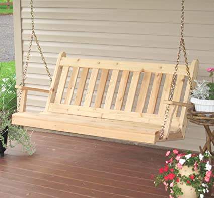 Strange Aspen Tree Interiors Cedar Porch Swing Amish Outdoor Hanging Porch Swings Patio Wooden 2 Person Seat Swinging Bench Weather Resistant Western Red Alphanode Cool Chair Designs And Ideas Alphanodeonline