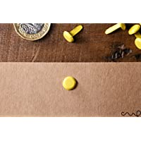 100 x Yellow Paper Fastener Split Pins Binding Office Craft 13mm Long
