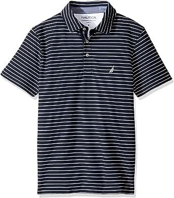 قميص بولو مخطط بكم قصير للرجال من نوتيكا مقاس متوسط