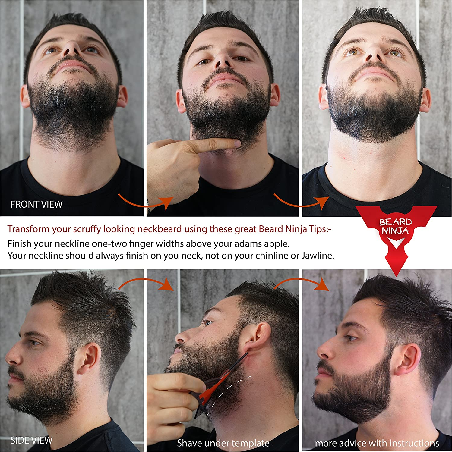 New Groomarang Beard Styling And Shaping Template B Tool Perfect Lines Symmetry Shape Face Neck