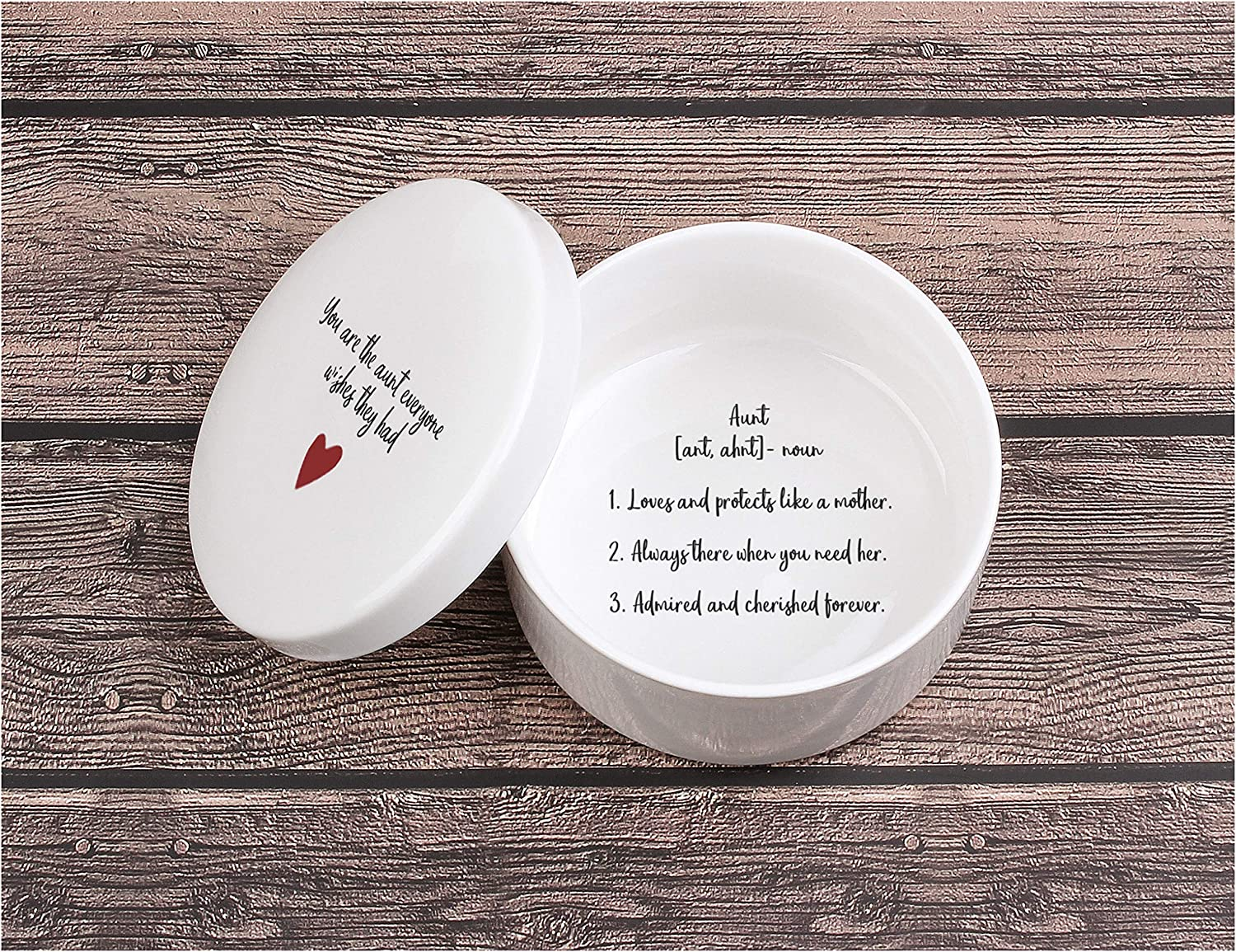 Auntie, from Niece, from Nephew, Aunt Birthday, Aunt Christmas, Best Aunt Ever, Ceramic Jewelry Box, Aunt Definition, Aunt Keepsake Box with Blessing - You are the Aunt that Everyone Wishes They Had