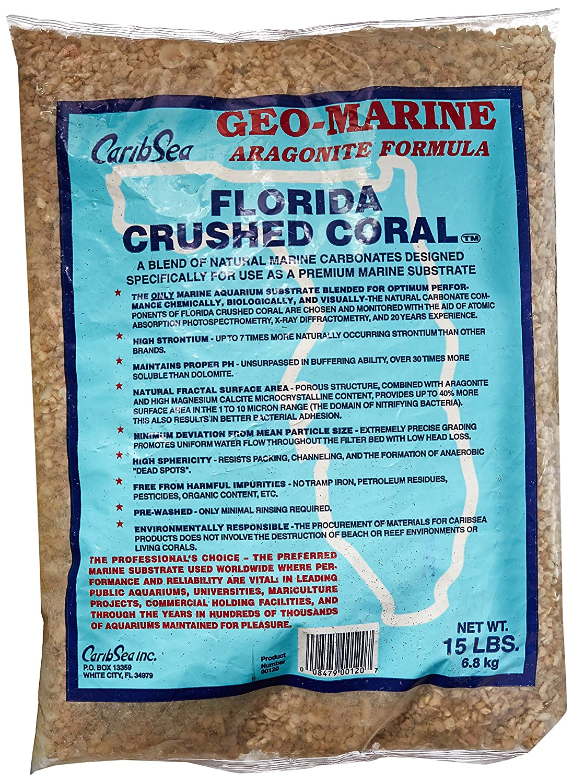Carib Sea ACS00120 Crushed Coral for Aquarium, 15Pound