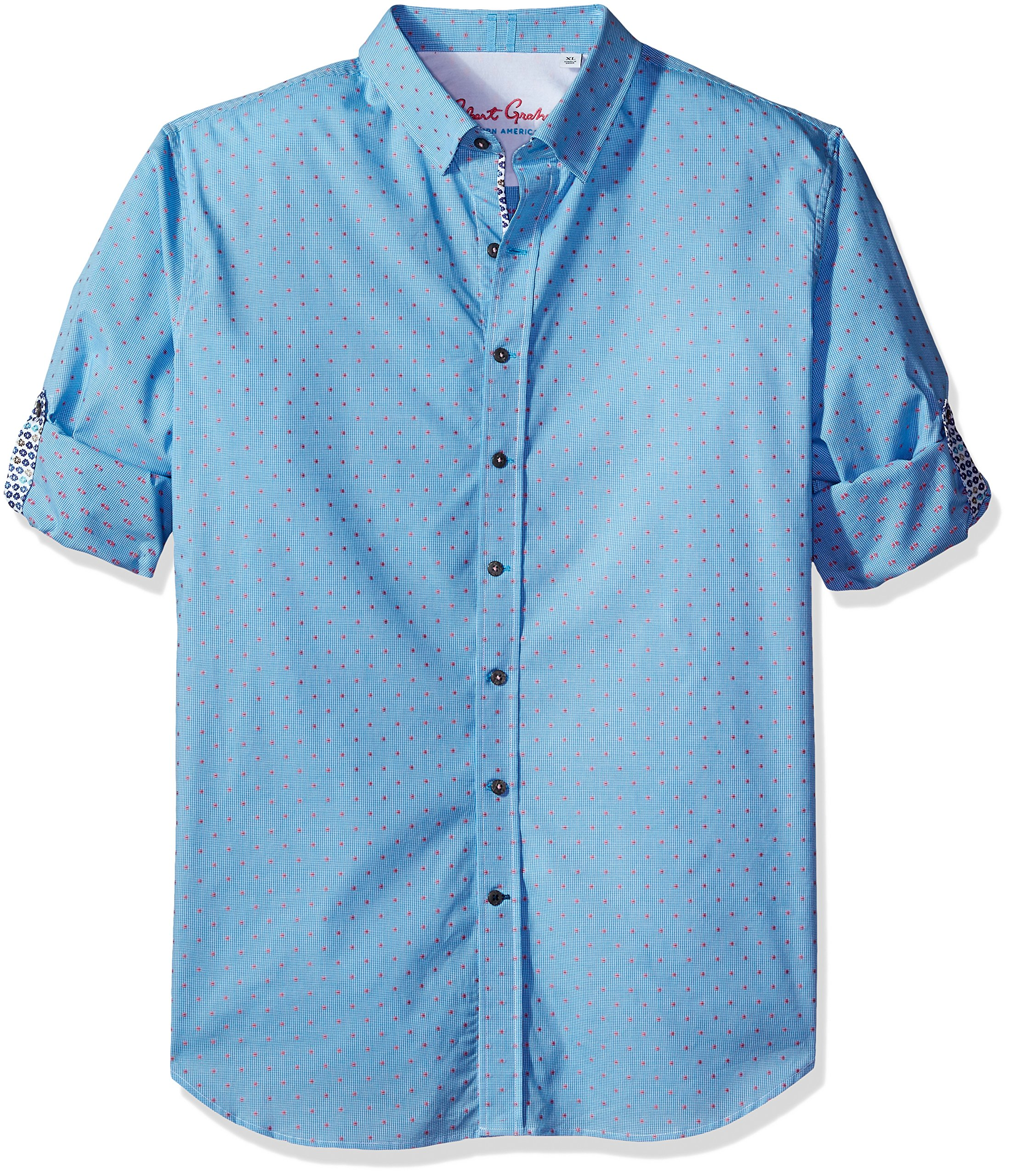 Robert Graham Men's Carlos L/s Tailored Fit Shirt, Teal 3XL