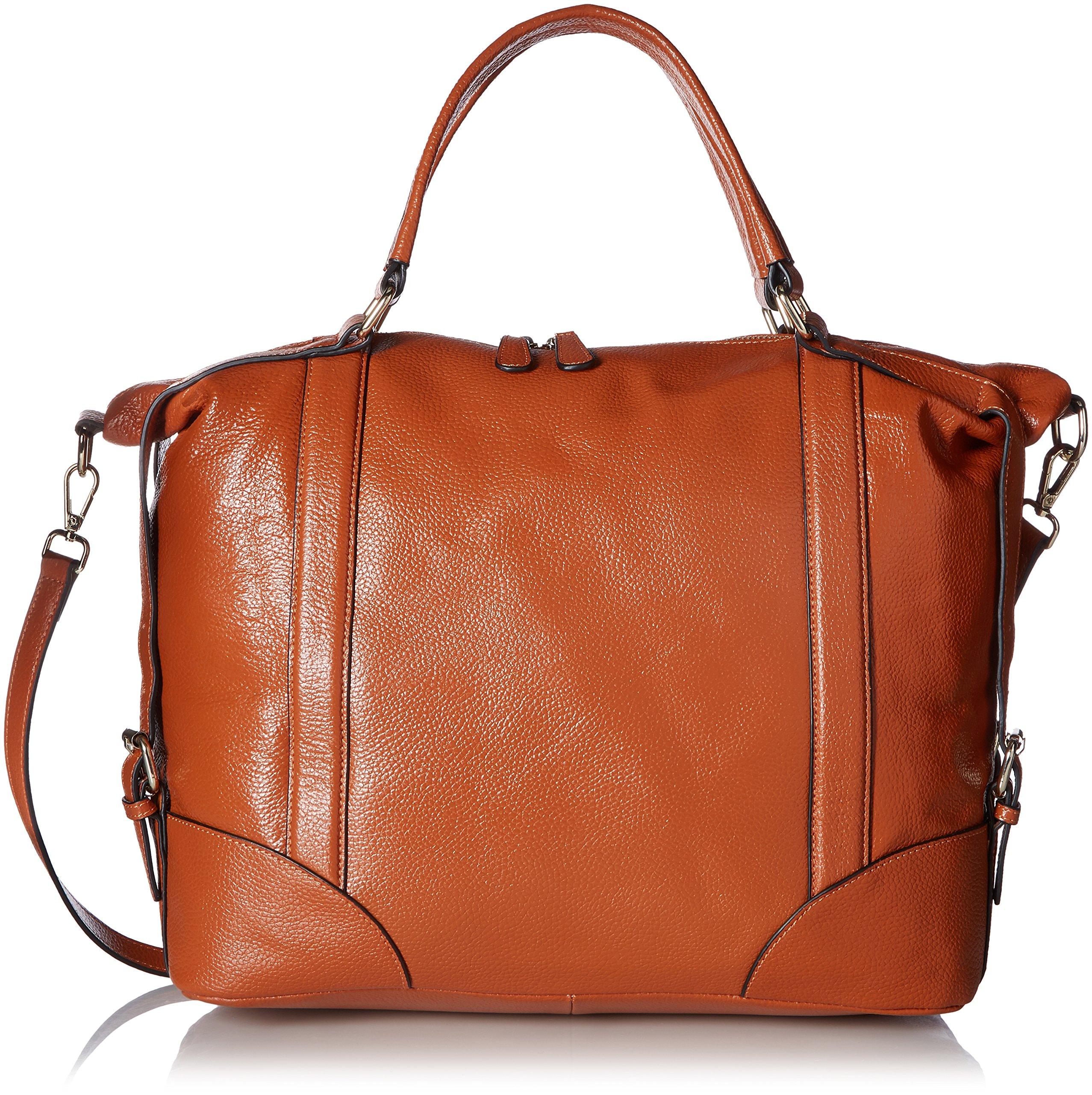 Donna Bella Designs Vivian Leather Shoulder Bag, Brown