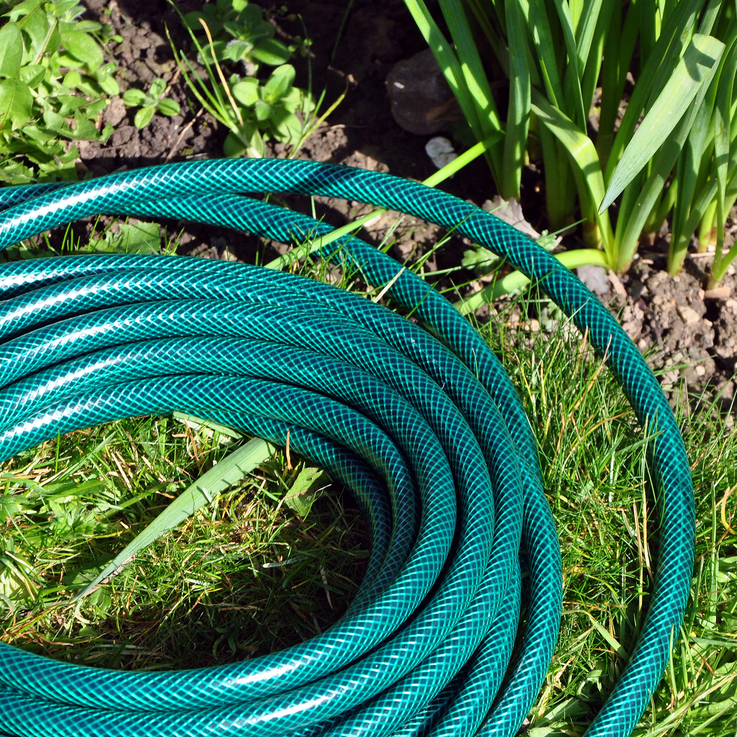 Worth Garden 5M Water Hose 1//2 Garden Hose and Spray Nozzle Set 3 Layer Lightweight and Durable Outdoor Hosepipe