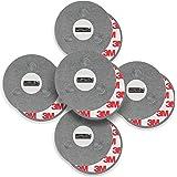 mumbi 5er Set Magnetbefestigung für Rauchmelder Magnet Befestigung für glatte Flächen (NICHT für Rauhfaser oder losen Putz)