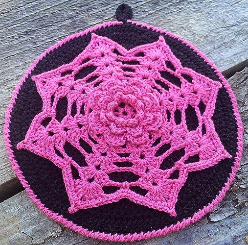Amazon Crocheted Pot Holder Cotton Potholder Irish Rose