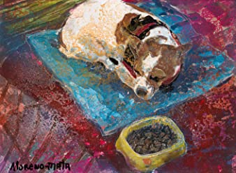 Sleeping Dog Original Handmade Painting