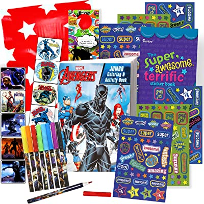 Black Panther Coloring Book with Black Panther Stickers (Black Panther Movie): Toys & Games
