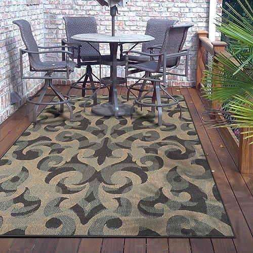 Superior Designer 4' x 6' Aldaine Collection Indoor/Outdoor Area Rug