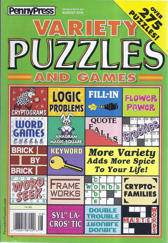 Read Online Variety Puzzles & Games Magazine (#338 - August 2016) ebook