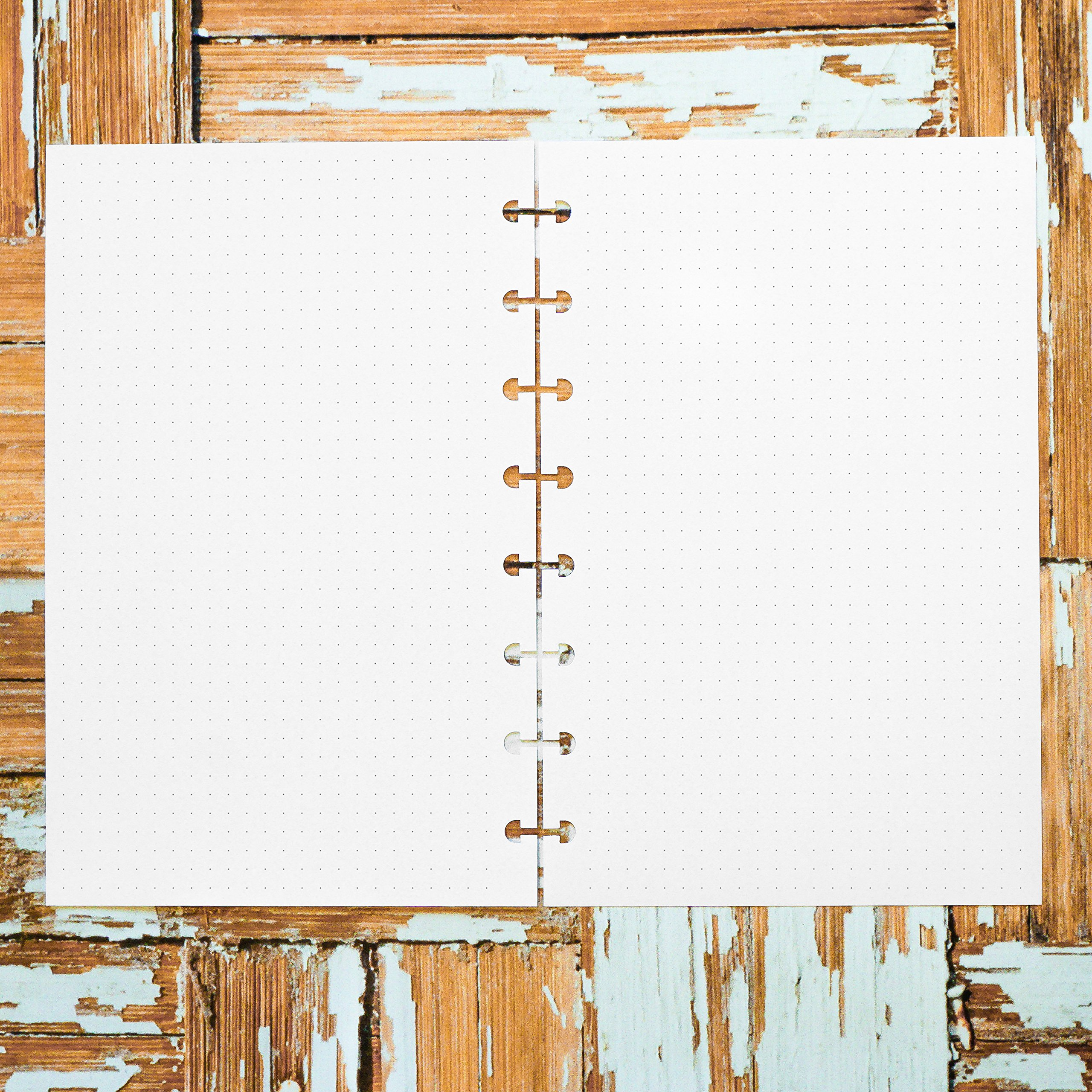 Dot Grid Planner Inserts | Junior Size for Disc-bound