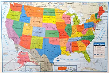 Amazoncom Superior Mapping Company United States Poster Size - Map of the us poster size