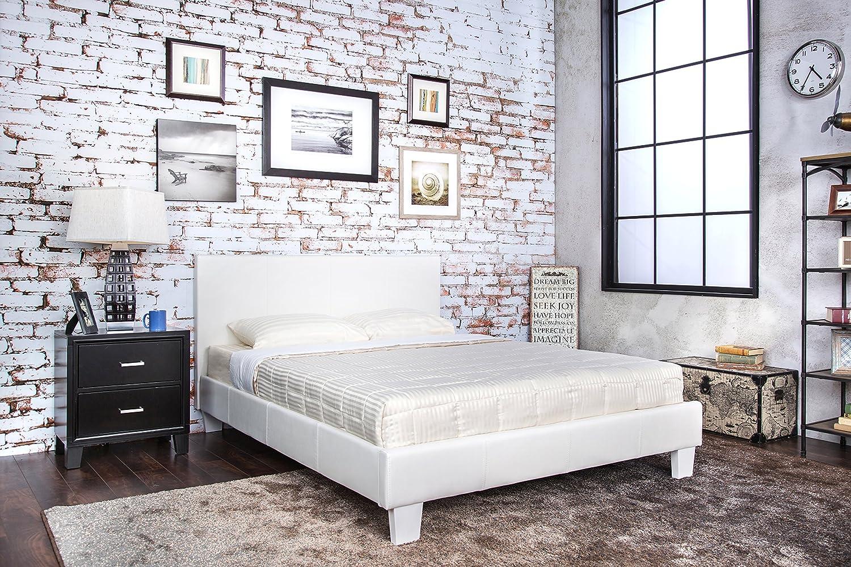 amazon com furniture of america rhinox leatherette platform bed
