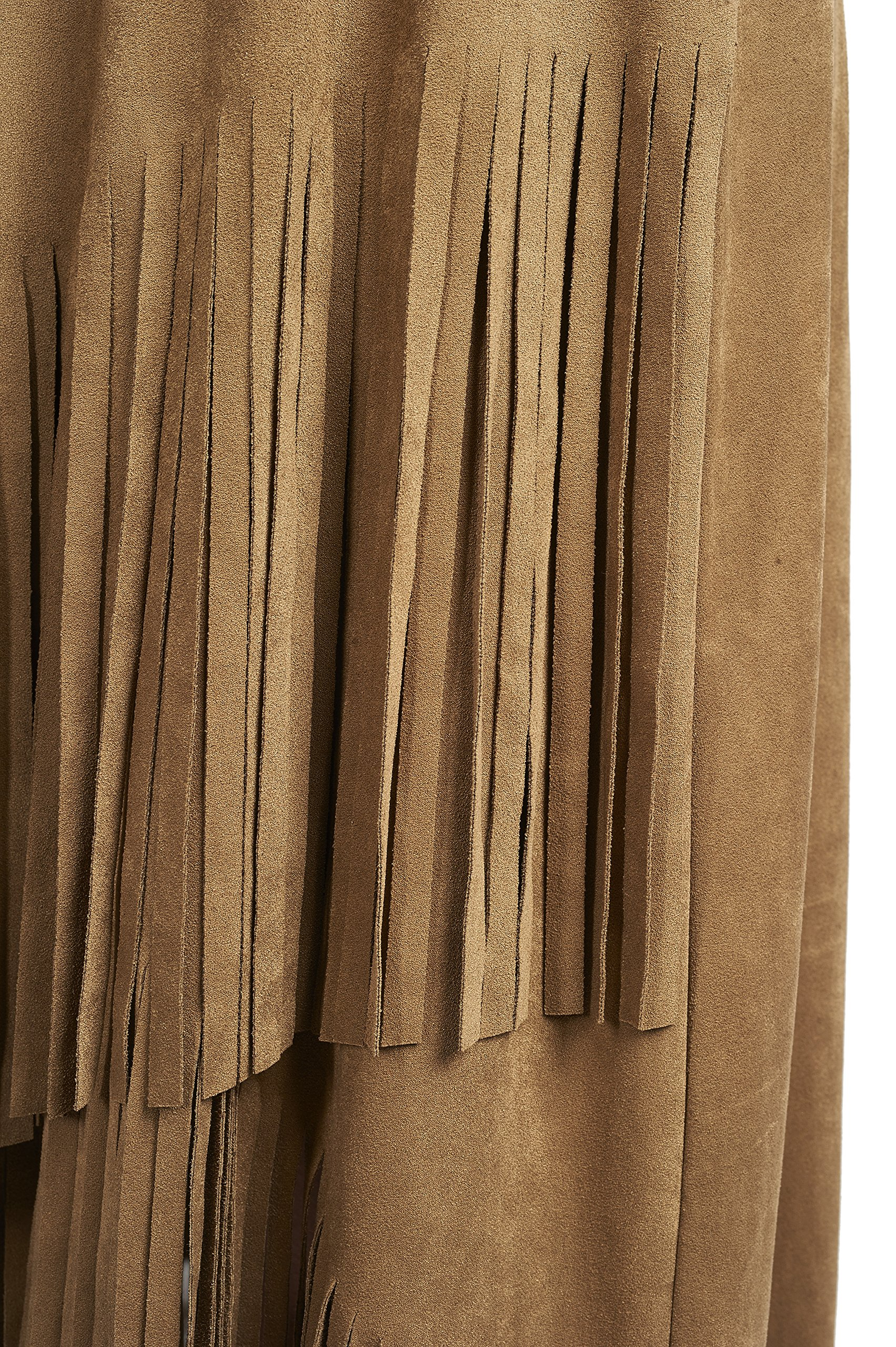Joseph Ribkoff Faux Suede Asymmetric Skirt with Fringe Style 171388 - Size 14 by Joseph Ribkoff (Image #3)