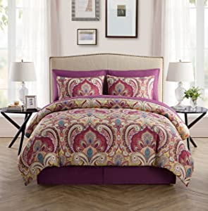 Paisley 8pc Bed-in-a-Bag Comforter Set