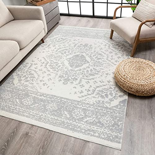 Well Woven Pasza Ivory Floral Medallion Area Rug 8×10 7'10″ x 9'10″