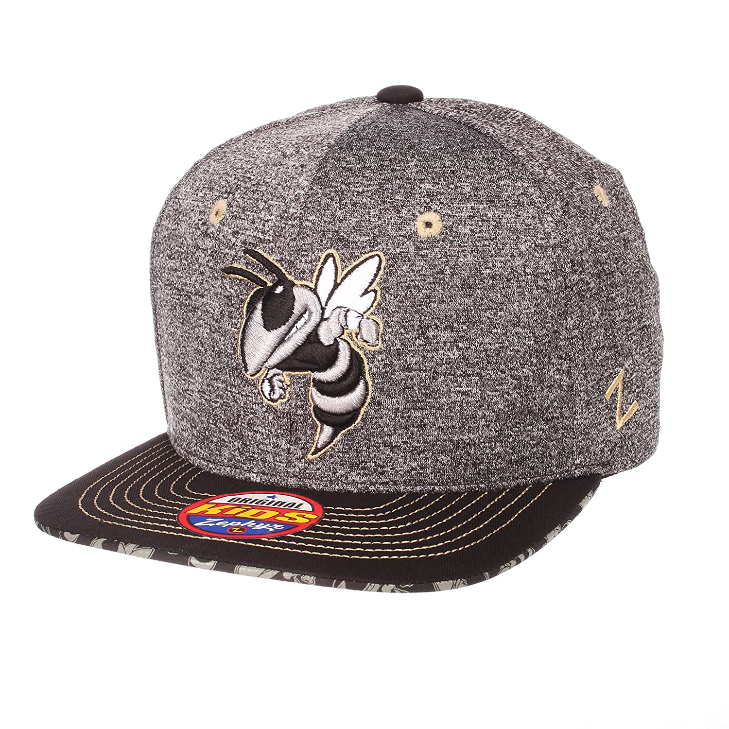 Adjustable Zephyr Children Boys Prodigy Youth NCAA Snapback Hat Gray//Team Color