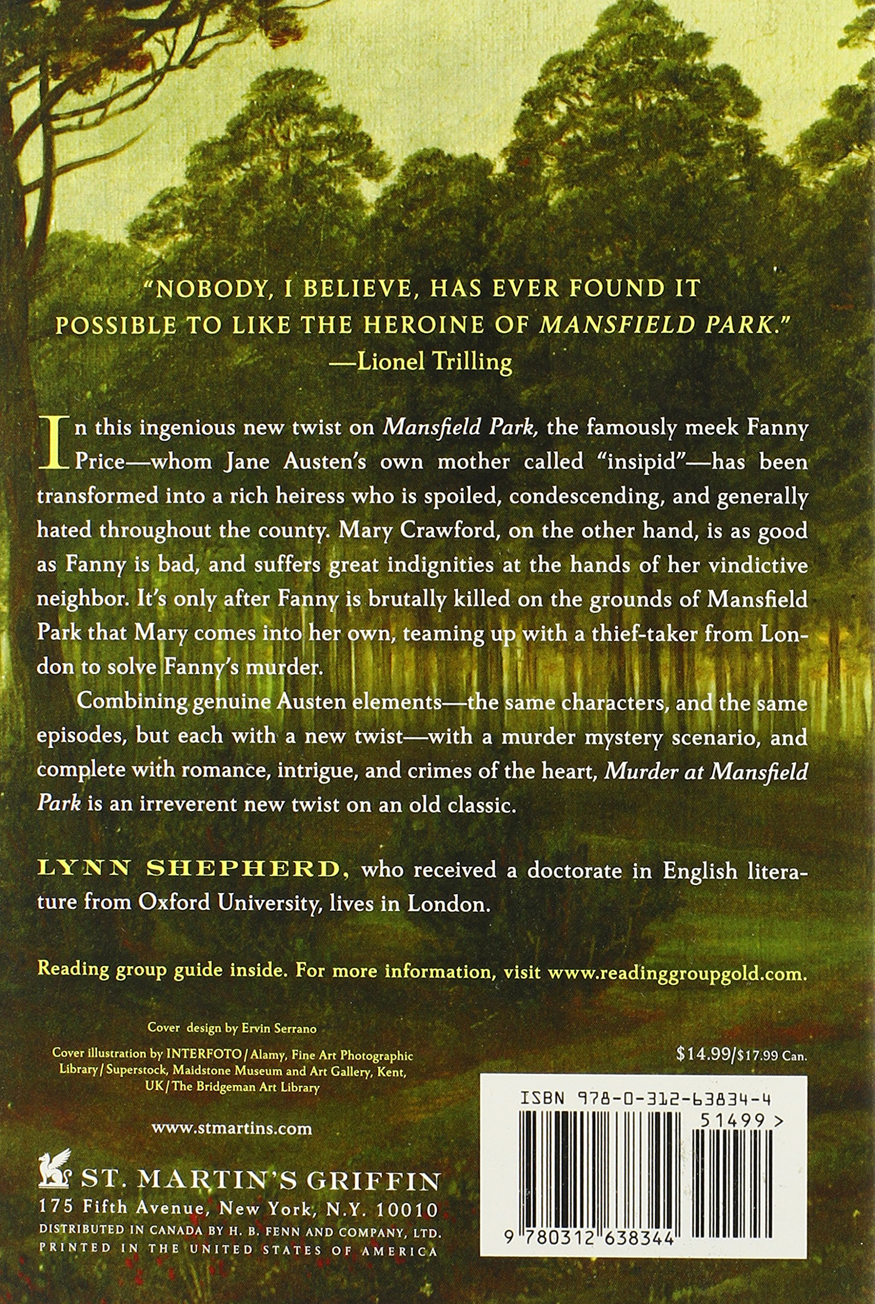 Murder At Mansfield Park A Novel Lynn Shepherd 9780312638344 Amazon Books