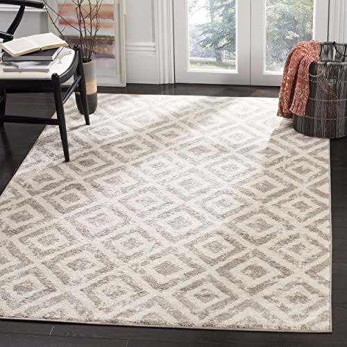 Safavieh Amsterdam Collection AMS105A Southwestern Geometric Ivory and Mauve Area Rug 9 x 12