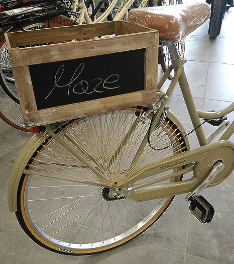 Caja/cesta para bicicleta de madera envejecido: Amazon.es ...