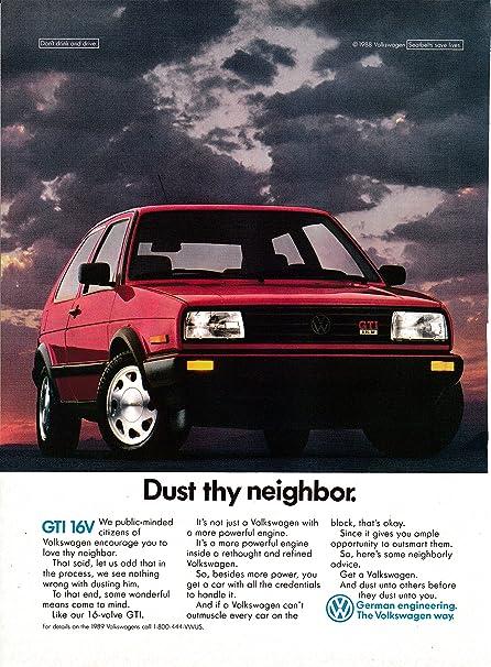 Amazon.com: 1989 VW GTI 16 Valve-Power-Dust Thy Neighbor ...