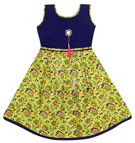 JAnanD Baby Girls Birthday Party Wear Dress 5 Years To 6 Old