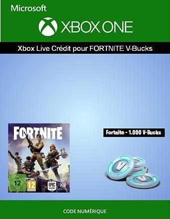 Carte De Credit Prepayee Xbox One.Credit Xbox Live Pour Fortnite 1 000 V Bucks Xbox One