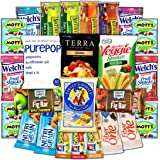 CollegeBox - Healthy Snacks (25 Count) Care Package for College Students – Variety Assortment Gift Box with Brain Food for Studying and Dorm Rooms - Granola bars, Fruits Snacks, Popcorn and More
