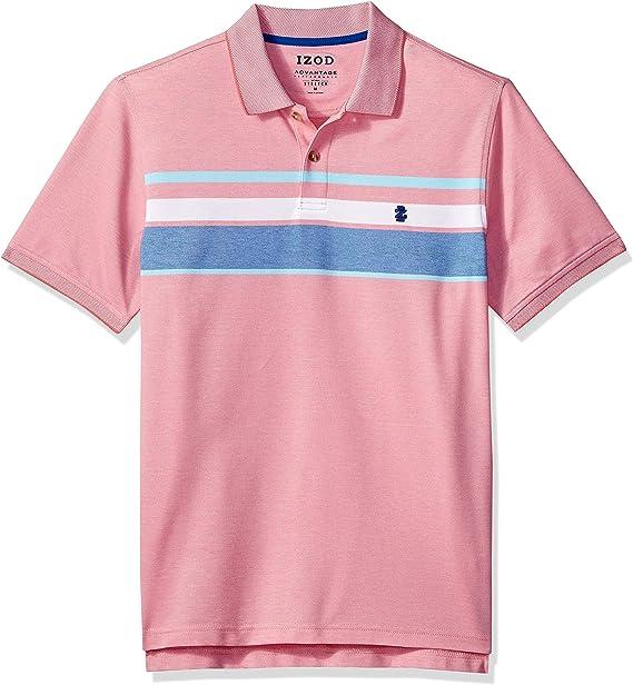 IZOD Mens Big and Tall Advantage Performance Short Sleeve Solid Polo Shirt Discontinued