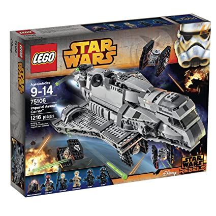 5ae5298075df61 Amazon.com  LEGO Star Wars Imperial Assault Carrier 75106 Building Kit   Toys   Games