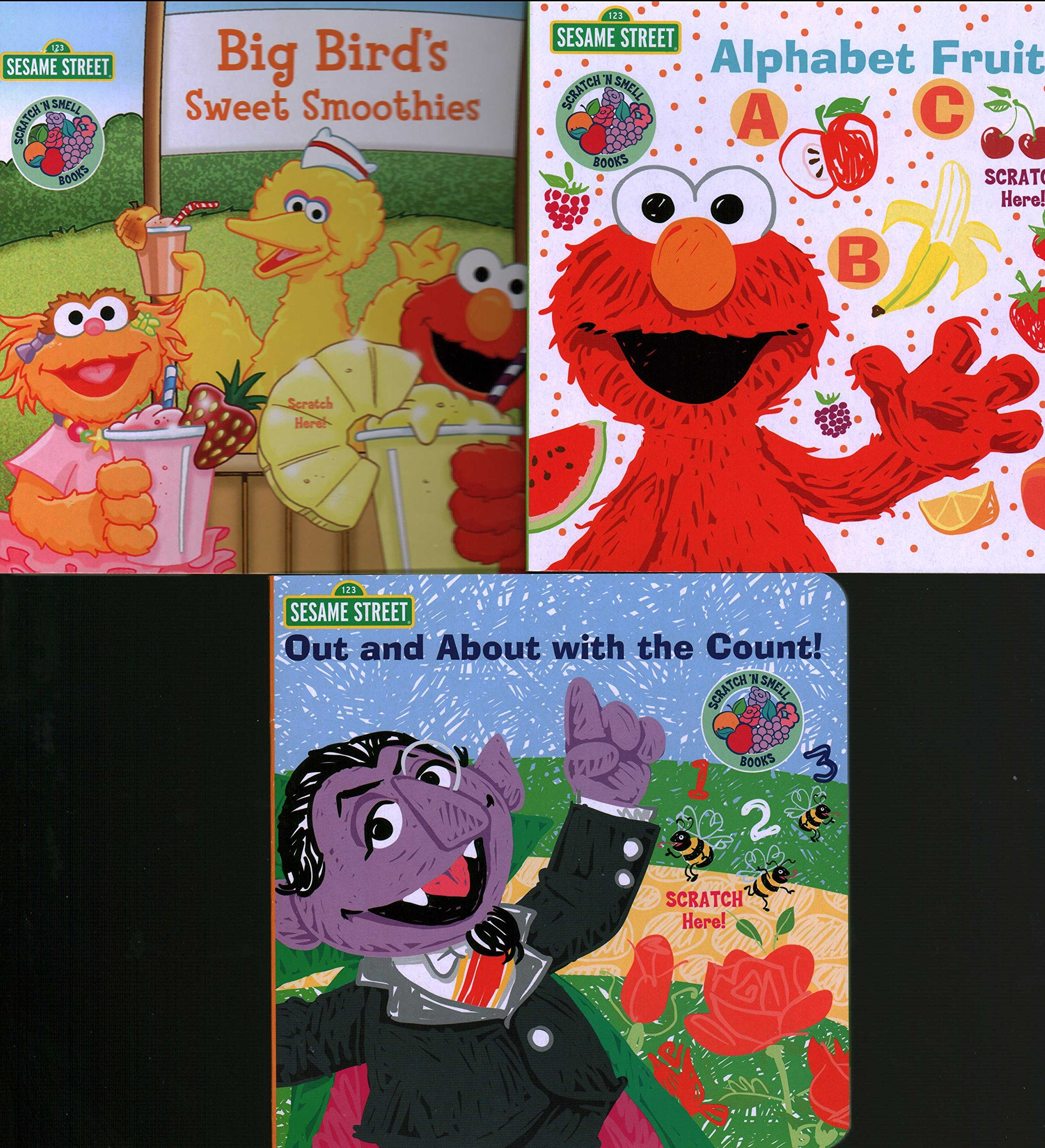 Download Sesame Street Scratch N Smell Board Books, 3-bk Set, Out and About with the Count!, Big Bird's Sweet Smoothies, Alphabet Fruit PDF